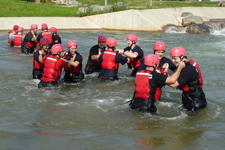 Swift water rescue training at the U.S. National White Water Center