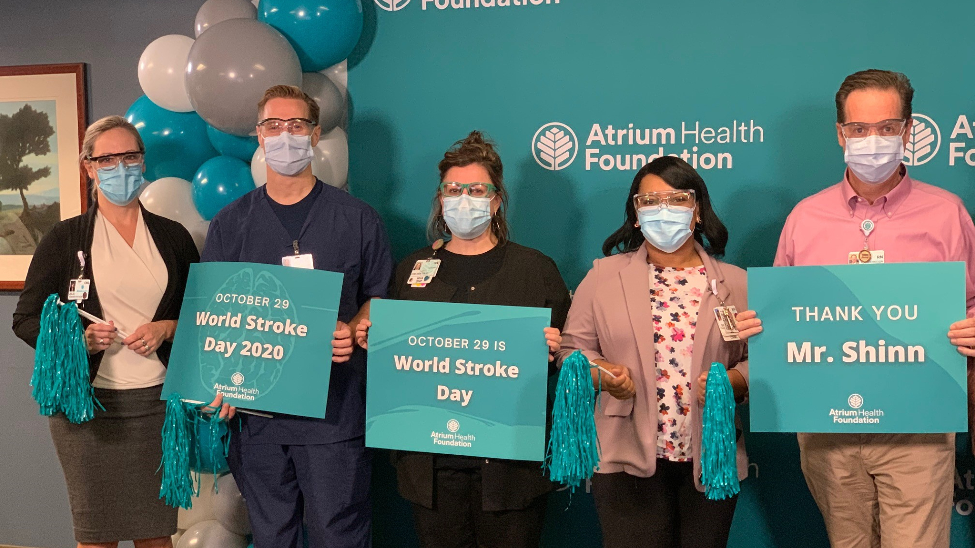 In conjunction with World Stroke Day, Atrium Health Foundation today announced a transformational gift from George Shinn in support of Atrium Health's regional stroke network. In recognition of the $7.5 million gift, Atrium Health will name its stroke center in honor of George Shinn.