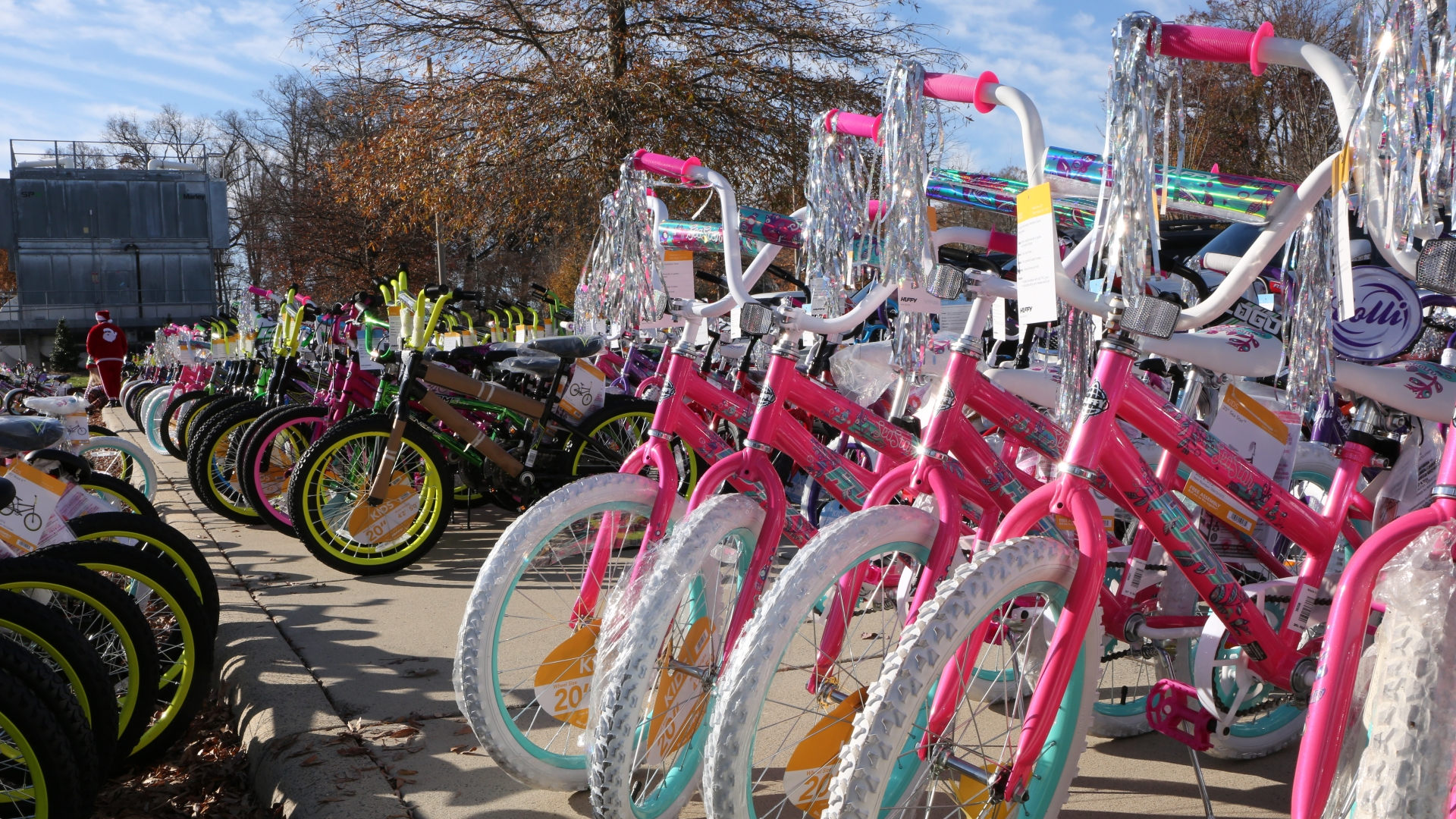 Each year, teammates at Atrium Health Union pull together to help less fortunate kids in Union County by donating bikes to the Union County Christmas Bureau. What began with around 50 bikes several years ago has grown into an outpouring of generosity that netted more than 500 bikes this year.