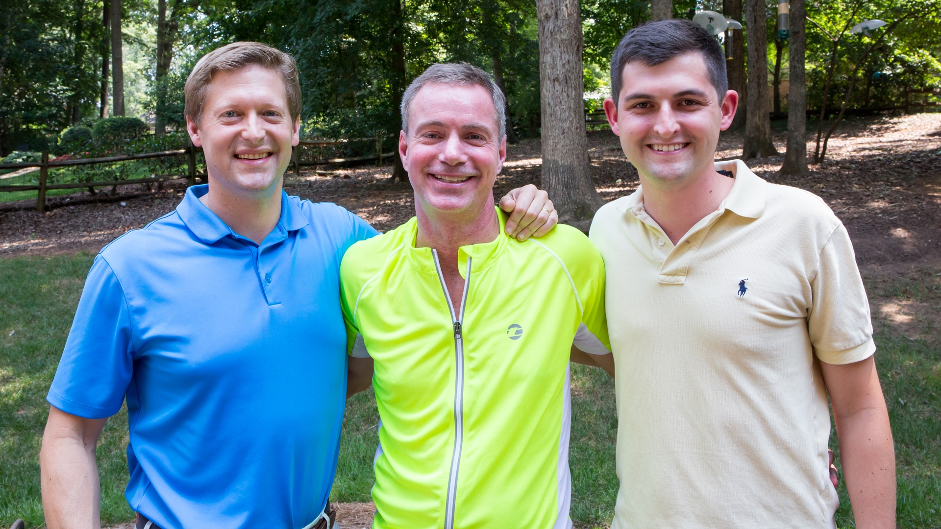 From left: Matt McGirt, MD, neurosurgeon, Dean Otto, Will Huffman, driver. The three men have become close friends and are all running a half marathon together on the one-year anniversary of Otto's accident.