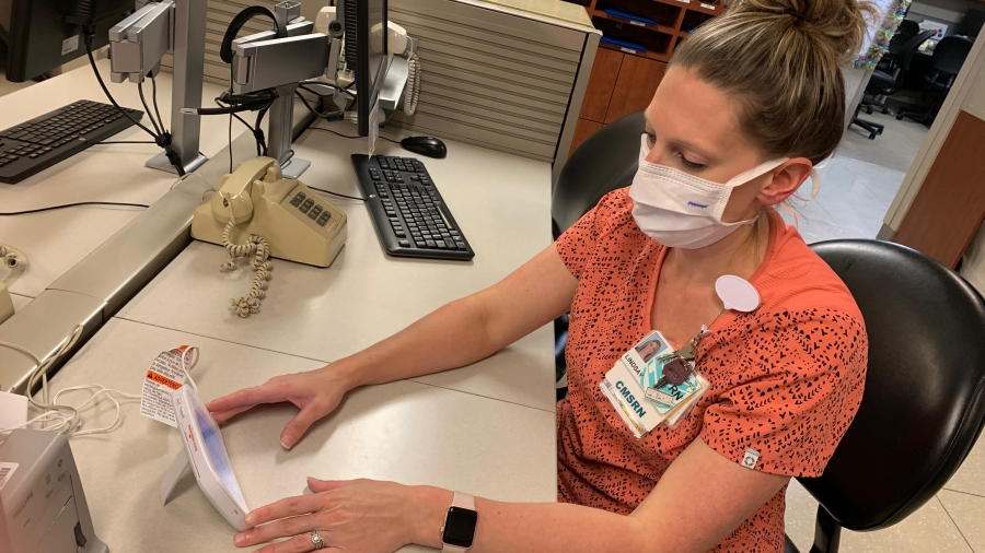 The same baby monitors that provide new parents a window into their child's room are now being used to monitor patients, while keeping nurses safe and conserving Personal Protective Equipment (PPE).