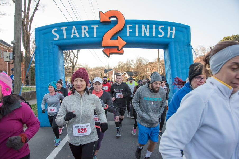 This year's Cupid's Cup 5k had over 900 participants