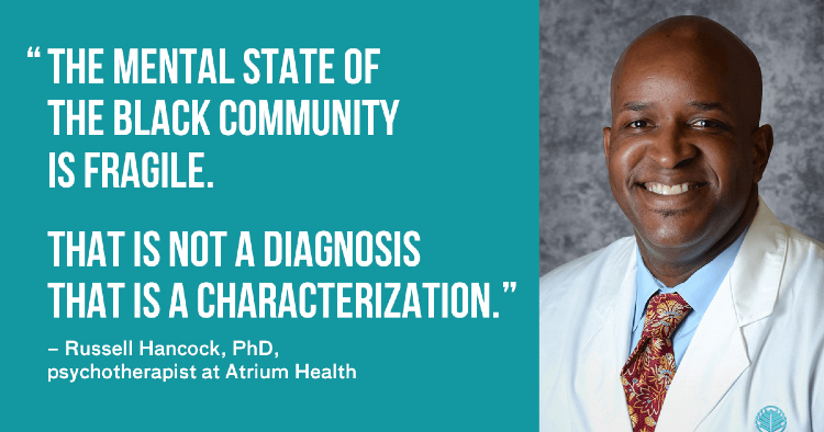 Dr. Russell Hancock speaks on topic of mental health for the black community