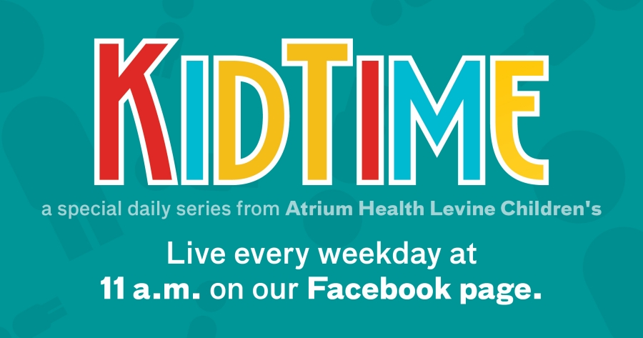 Atrium Health Levine Children's presents KidTime, a new segment filled with fun, enriching activities that are shared every weekday for you and your family to enjoy.