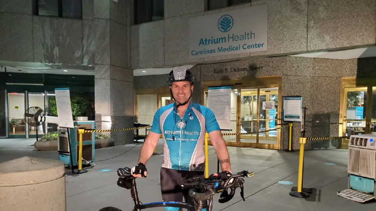Beginning Friday, August 21 and ending Saturday, August 22, three Atrium Health teammates rode 240 miles in honor of the Levine Cancer Institute – as well as people who have been affected by cancer and the healthcare workers who care for them.