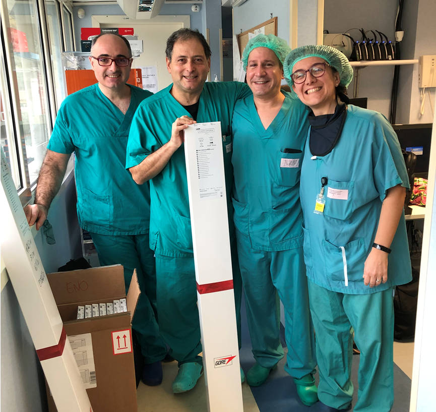 Dr. Paolillo recently returned from a week in Euope, where he trained doctors in the UK, Germany and Italy on how to use the new ASD occluder implants.