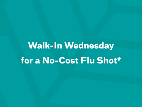 Walk in any Wednesday to receive a no-cost flu shot at any of the selected Atrium Health locations