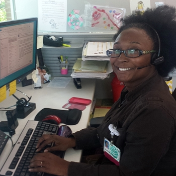 Alischa Rodgers, telemental health clinician for Carolinas HealthCare System's Behavioral Health Call Center.