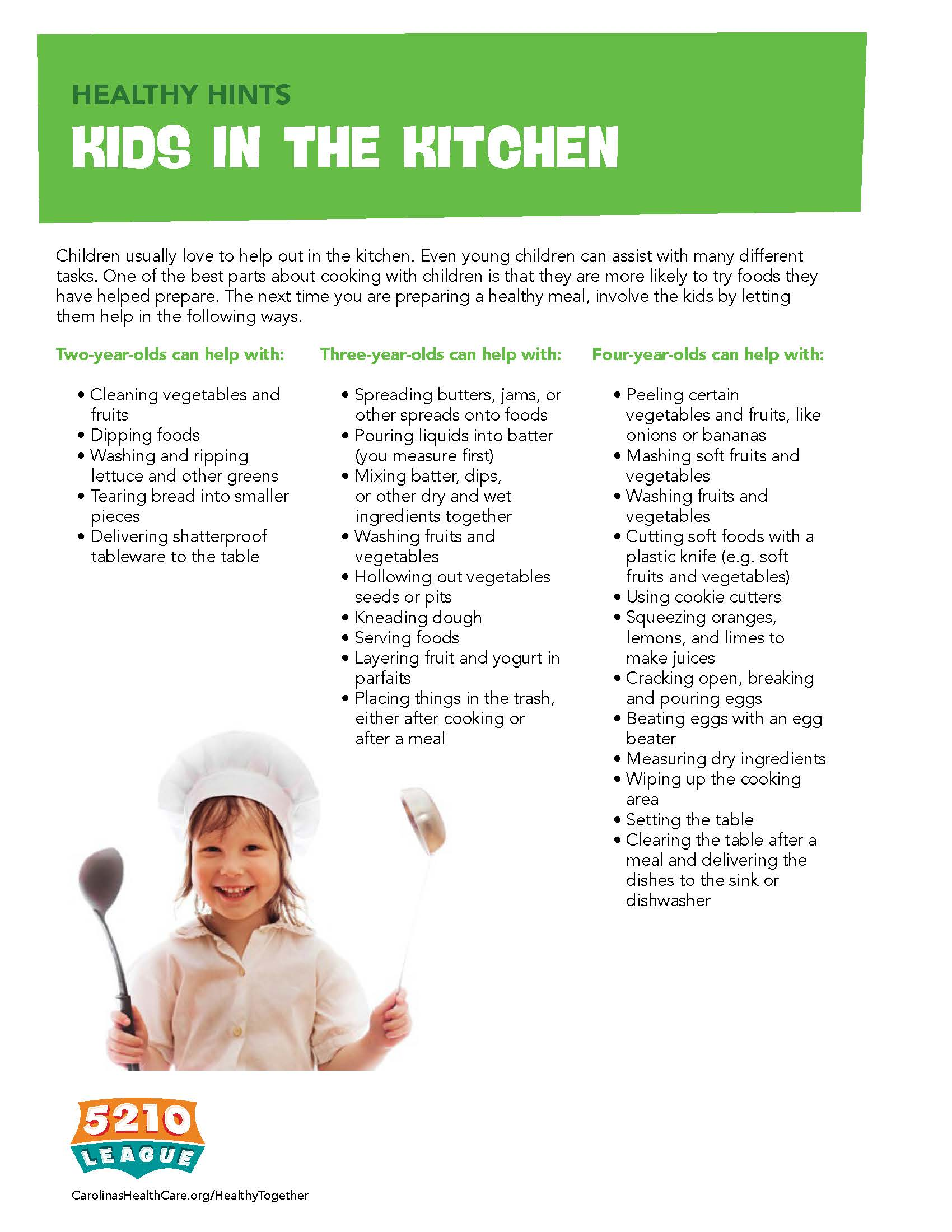 Healthy Hints To Get Your Kids in the Kitchen