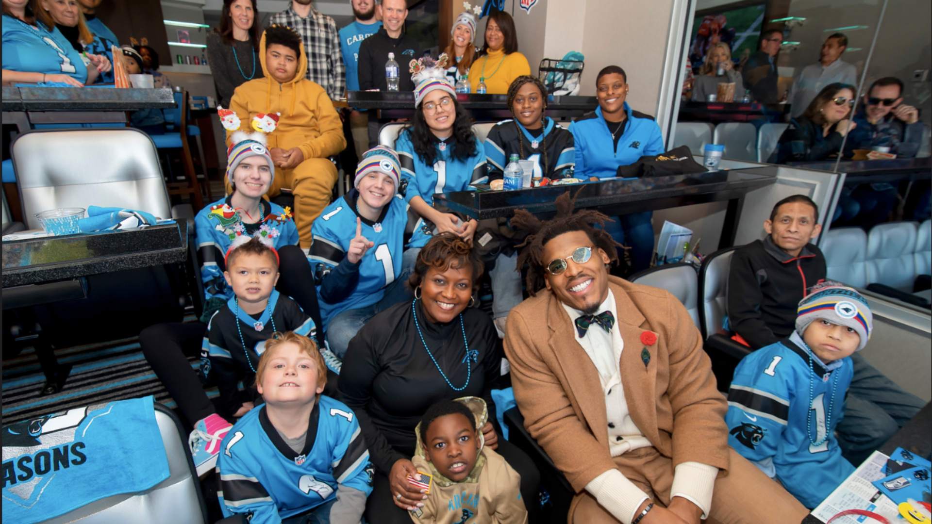 Cam Newton hosts Levine Children's Hospital at Christmas With Cam.