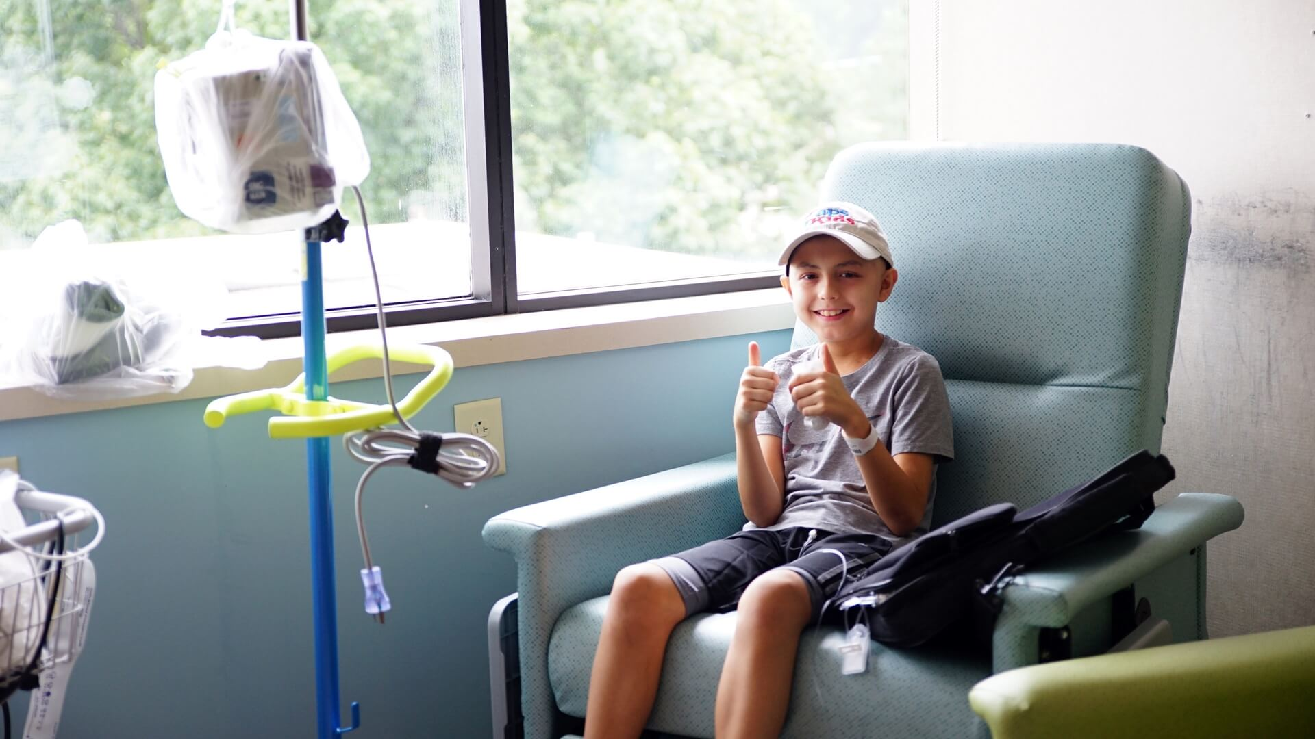 """No one would ever describe chemotherapy as easy. But a new option at Levine Children's Hospital allowing young patients to complete a chemotherapy regimen at home has helped 11-year-old Alex Bogran simplify his life – and sleep in his own bed at night."""