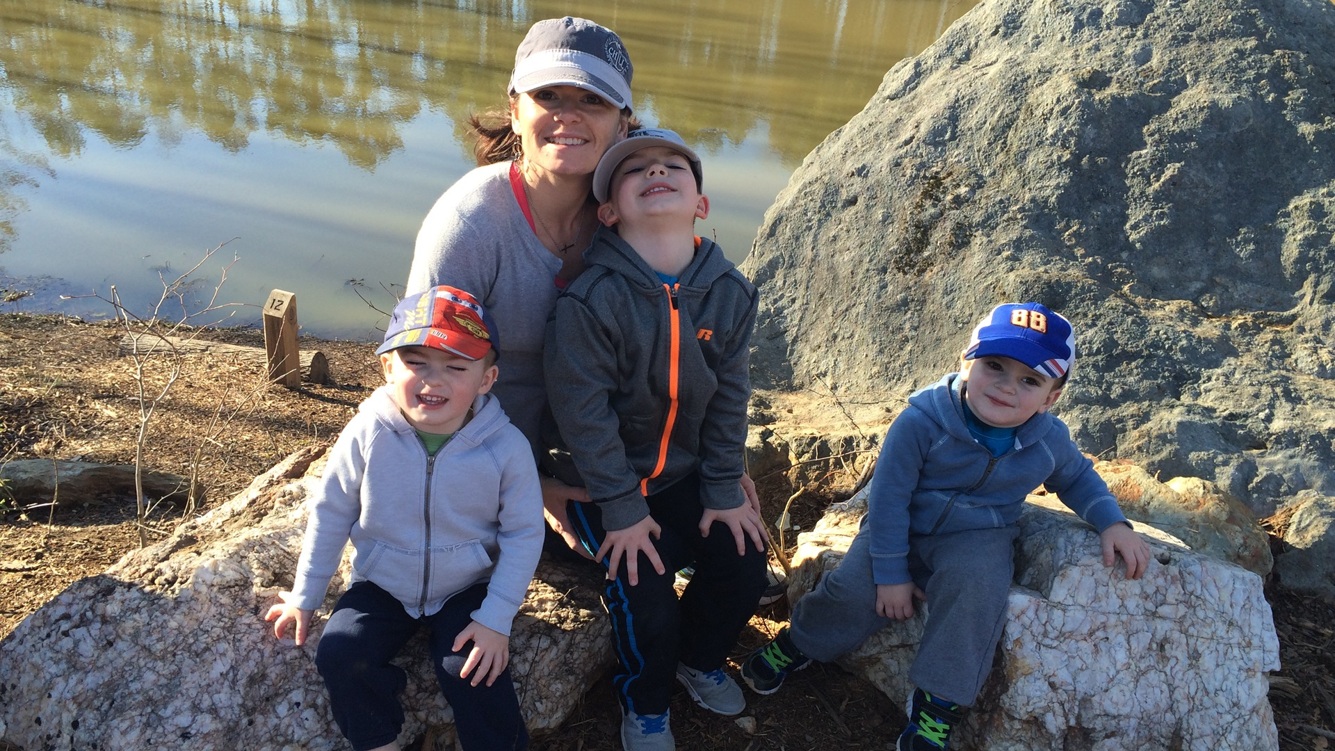 Joanna McCall and her sons Jacob, Issac and Caleb