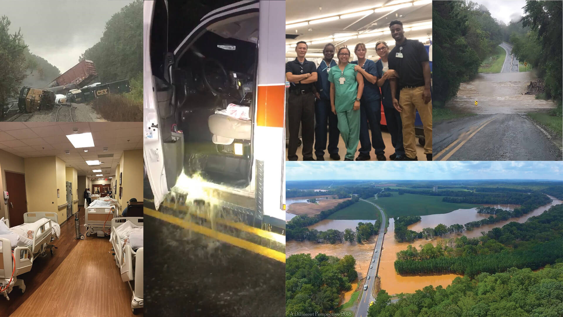An ambulance consumed by rushing water. A train derailment. Dozens and dozens or road closings. The staffs of Carolinas HealthCare System Union and Carolinas HealthCare System Anson endured everything Hurricane Florence could throw at them. But their commitment to care for both patients, their communities and their teammates never wavered.