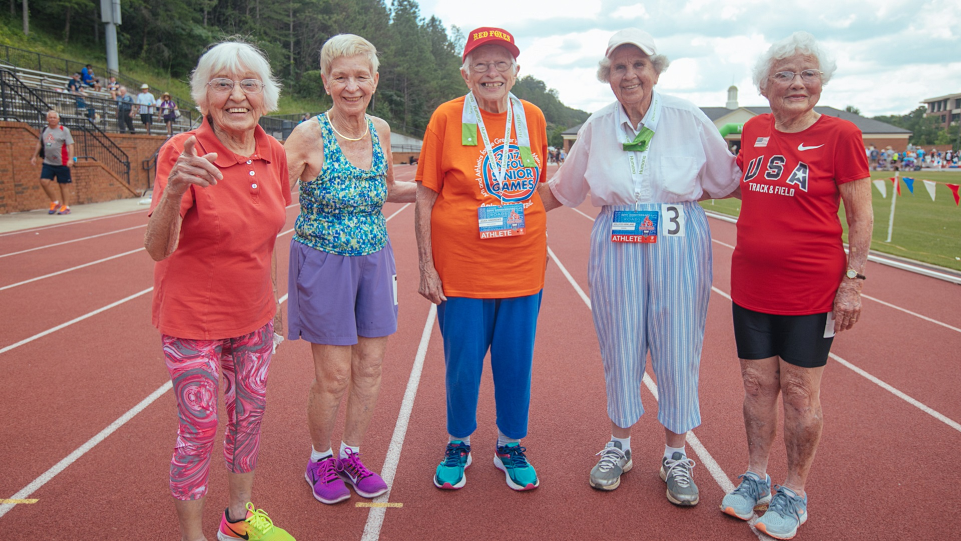 Joan Andrews wins three medals in the Senior Games. Photo courtesy of National Senior Games Association