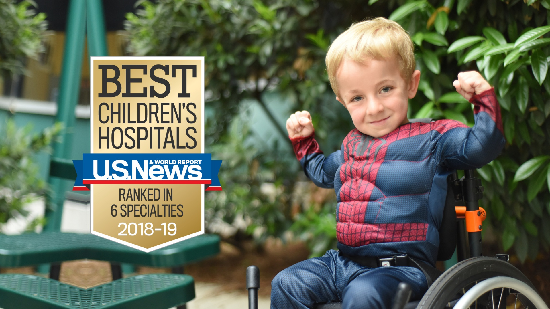 Being one of the nation's top hospitals is a reputation we strive to earn every day, for every child. Once again, Levine Children's Hospital has been named a Best Children's Hospital by U.S. News & World Report in six specialties. Learn how we give our best for your child.