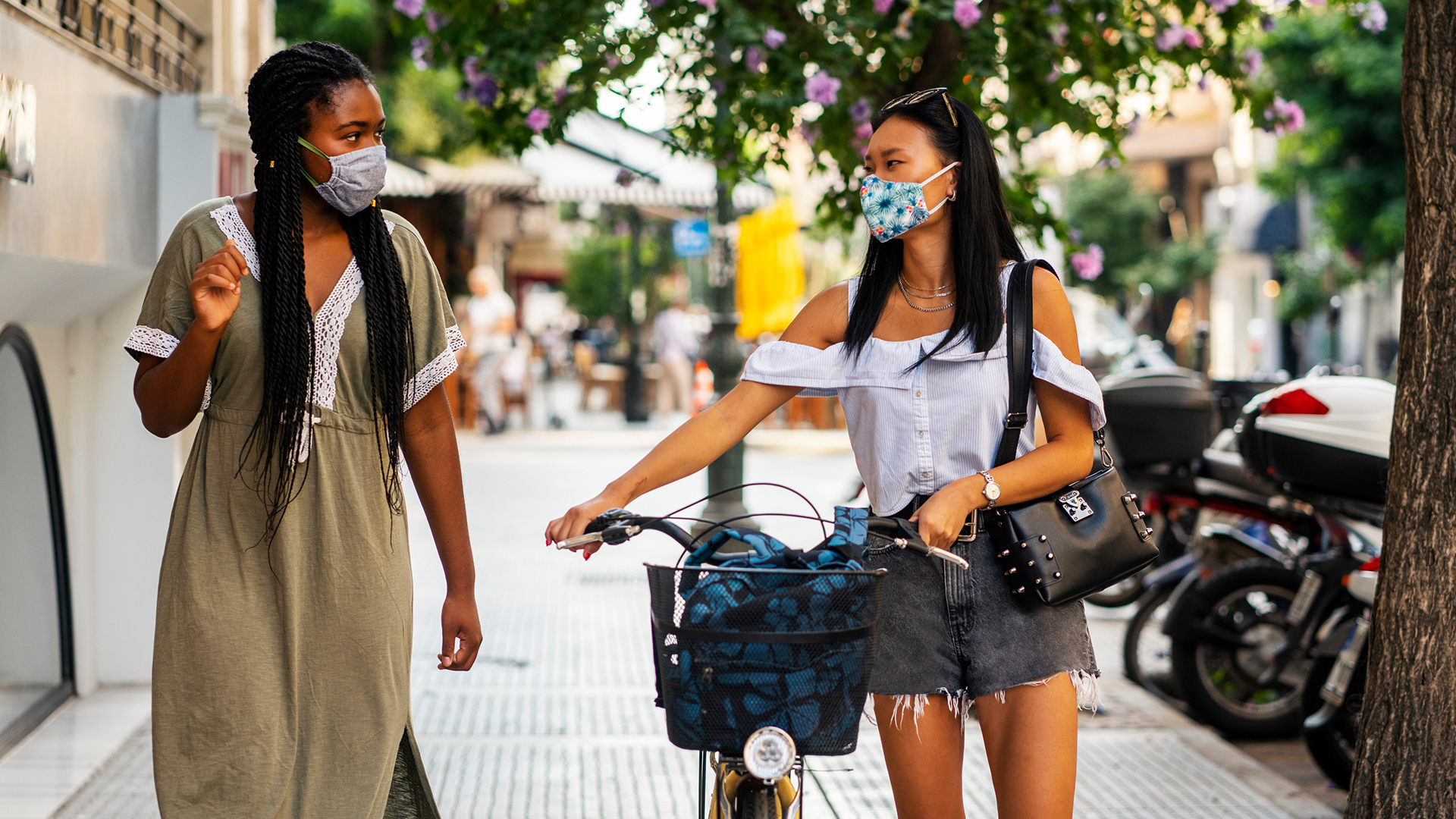 Even when outdoors, where the risk of COVID-19 transmission generally is lower, people should wear face masks during any gatherings, events, and activities.