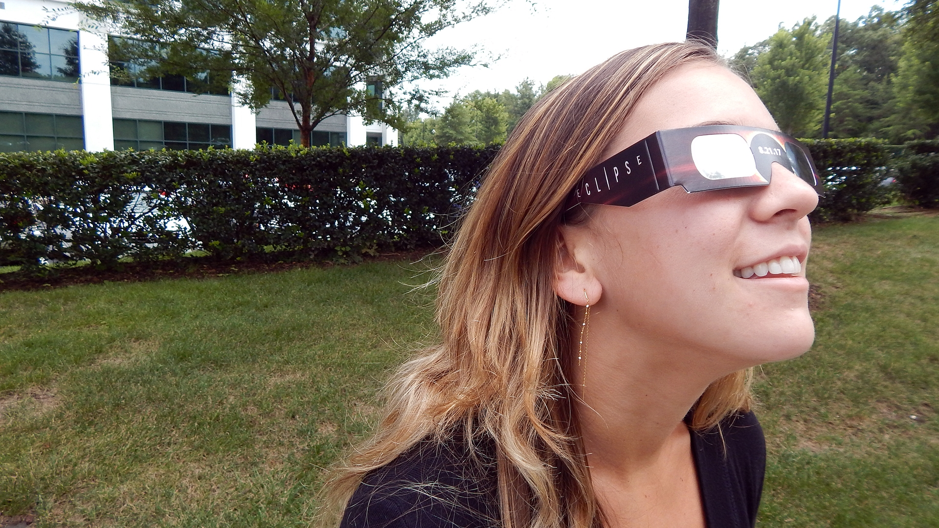 Make sure to wear protective glasses if you decide to look directly at the solar eclipse, Galen Grayson, MD, an ophthalmologist with Carolinas HealthCare System says, in order to protect your vision.