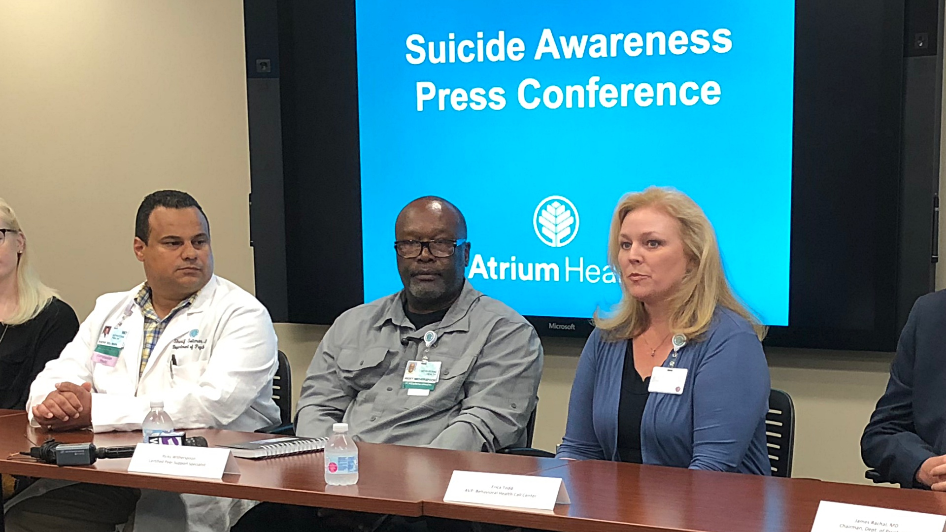 Suicide awareness press conference panel