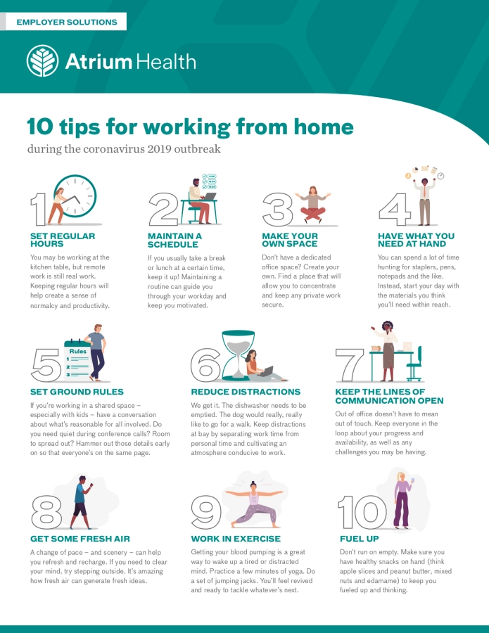 Working from home tips during coronavirus stay-at-home order