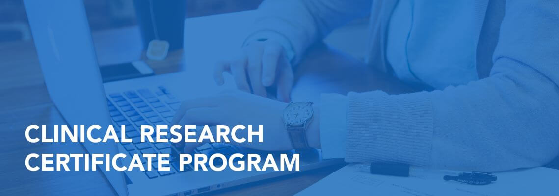 Clinical research certificate program