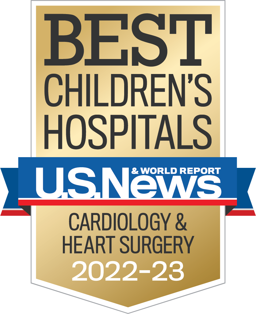 U.S. News and World Report Best Children's Hospitals Cardiology and Heart Surgery Award