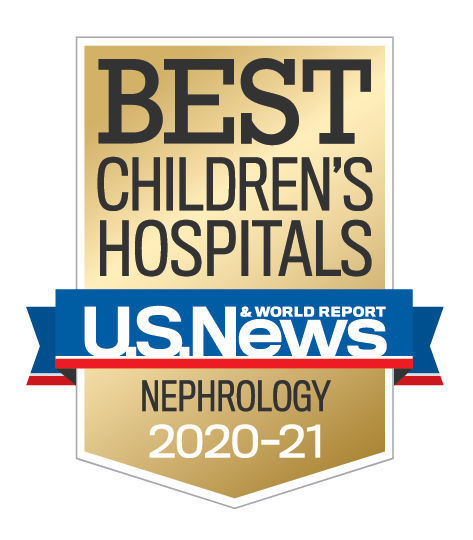 U.S. News and World Report Best Children's Hospitals Nephrology Award