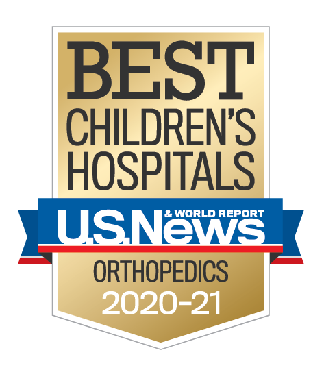 U.S. News and World Report Best Children's Hospitals Orthopedics Award